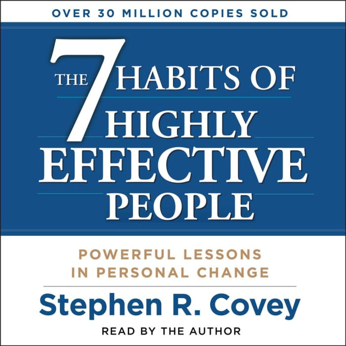 Book cover for The 7 Habits of Highly Effective People by Stephen R. Covey