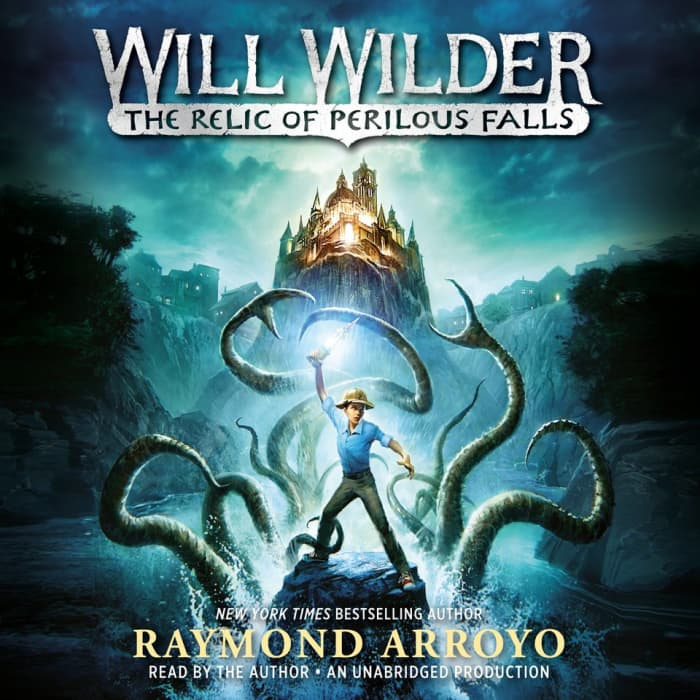 Book cover for The Relic of Perilous Falls by Raymond Arroyo with limited-time offer banner