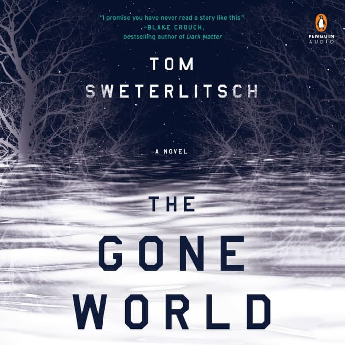 Book cover for The Gone World by Tom Sweterlitsch with limited-time offer banner