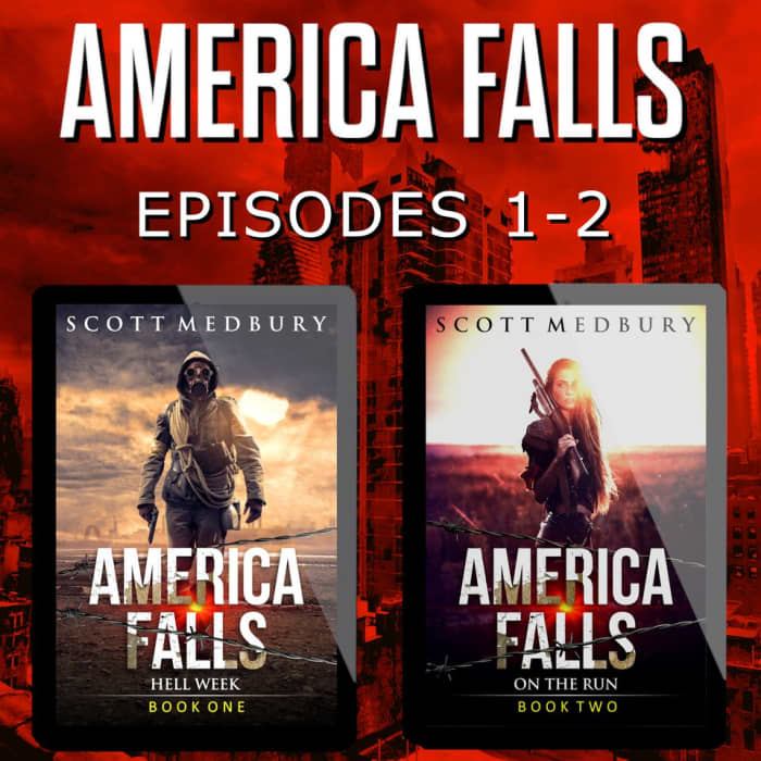 Book cover for America Falls Episodes 1-2 by Scott Medbury with featured deal banner